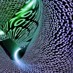 Abstract Binary Code Background Showing Technology And Data